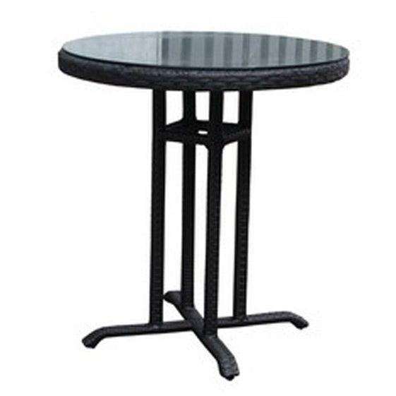 SVG Lissabon tafel rond - zwart plat wicker aanbieding!