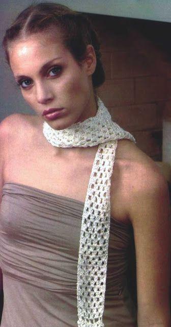 Patrón #1092: Detalles que Viste Bufanda a Crochet, #ctejidas http ...
