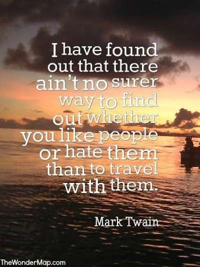 Mark Twain travelling quote | Positive words, Mark twain ...