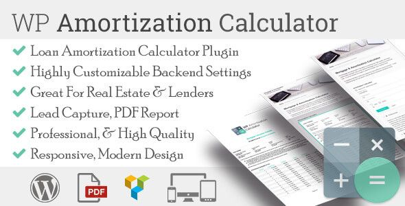 WP Amortization Calculator Calculator and Wordpress