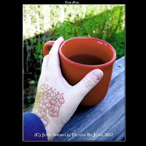 Digital Wallpaper Henna and Tea Mug Photograph by by hennabyjenn, $3.00