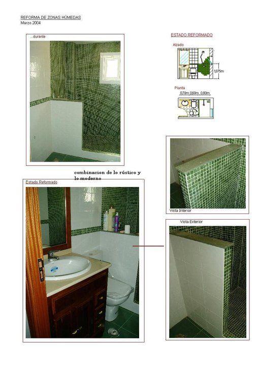 Bano Gresite Verde Detalles Ducha Obra Mueble Lavabo Ventana