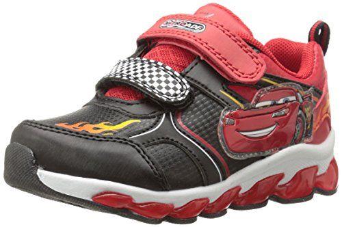 sports shoes 46e48 5b29b Disney Cars Lightning McQueen Light Up Sneaker, Black Red, 10 M US Toddler