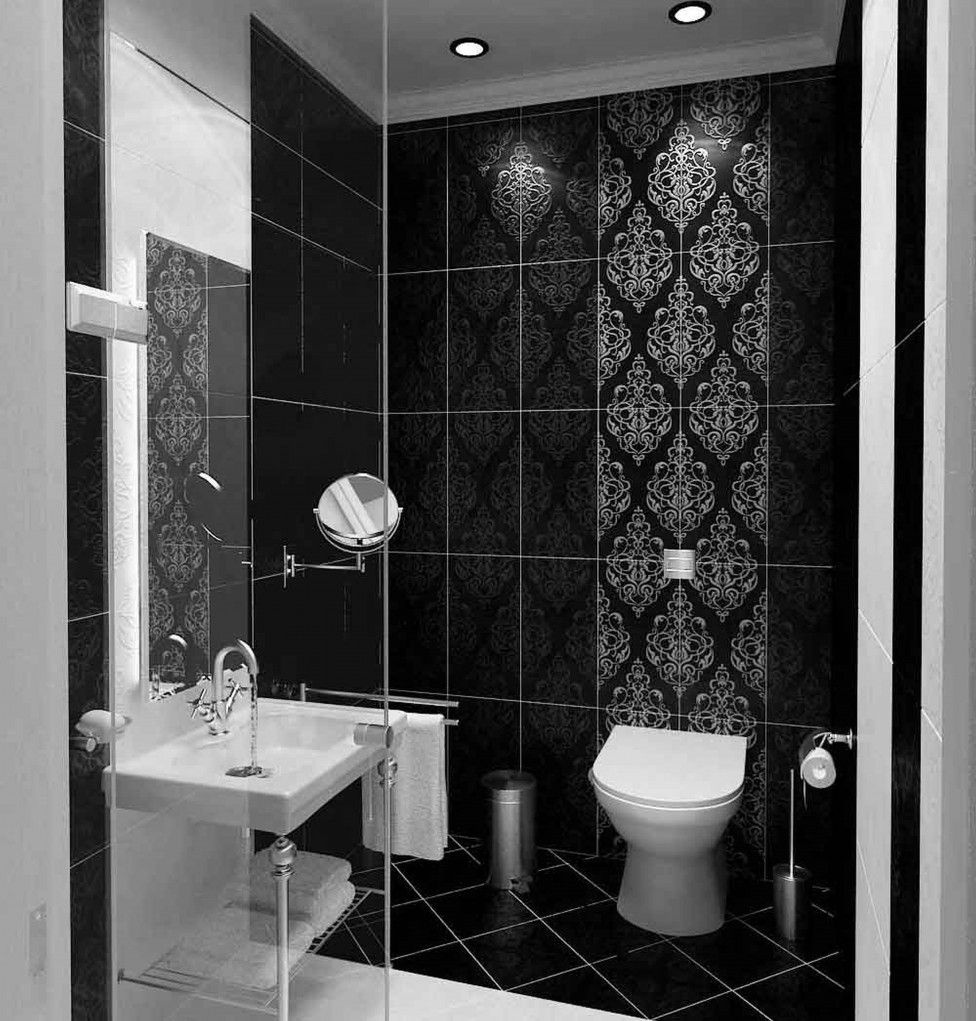 Appealing Black And White Bathrooms Fabulous Modern Black And White Bathroom  Design With Minimalist Black And
