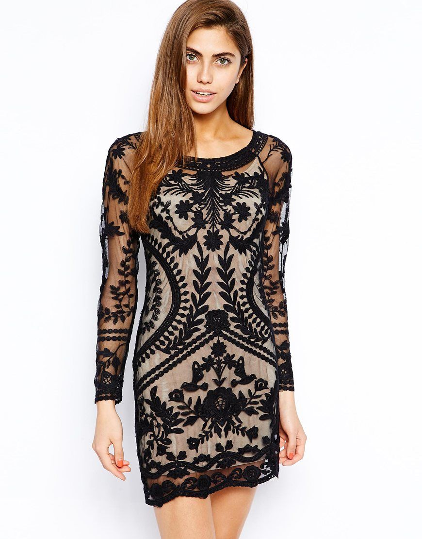 Lace dress bodycon  Goldie All Over Lace BodyConscious Dress  Alış Veriş  Pinterest