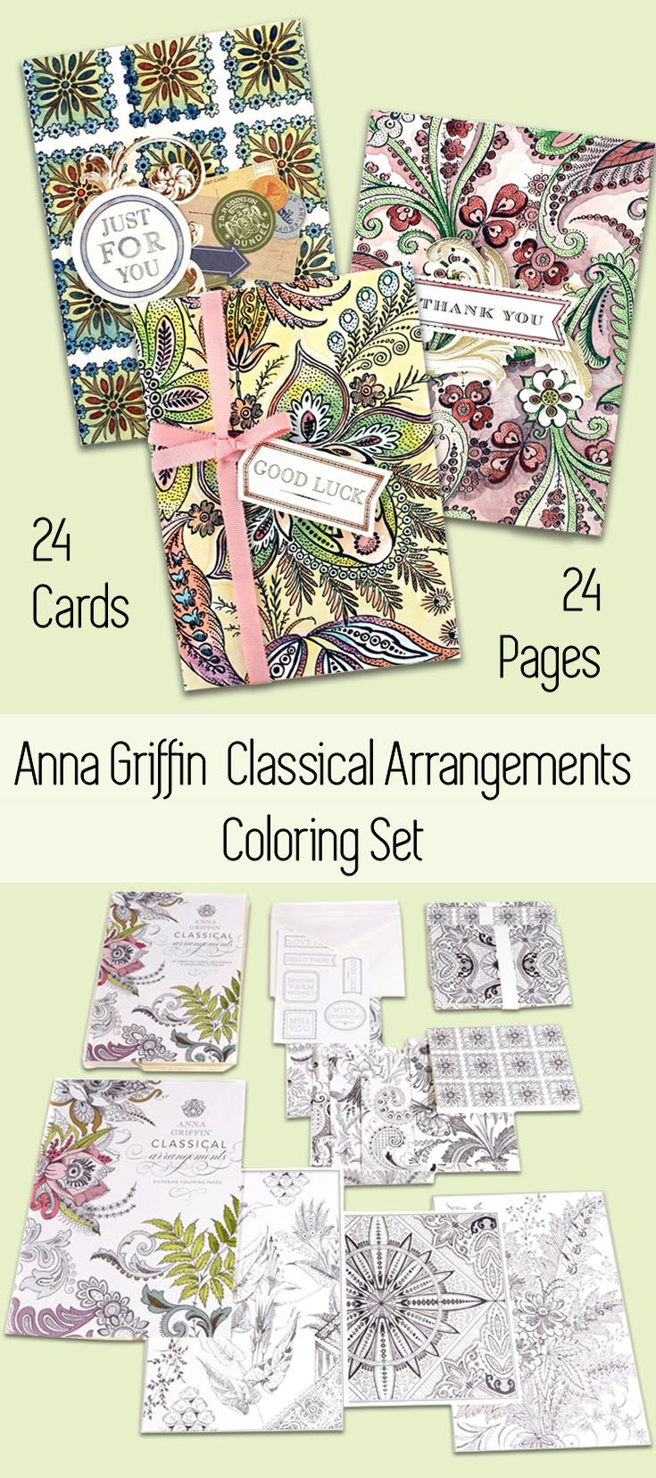 Anna griffin classical arrangements coloring set great gift for
