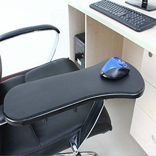 San Tokra Ergonomic Adjule Computer Desk Chair Extender Armrest Wrist Rest Support Holder Mousepad Mouse