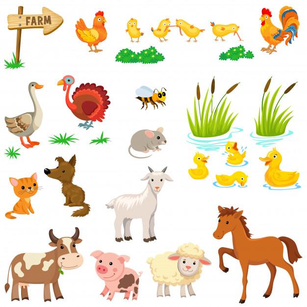 Farm Animals Set Farm Animals For Kids Farm Animals Animal Clipart Free