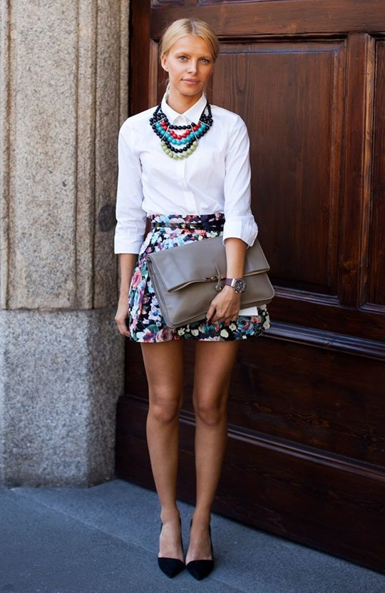 White shirt & floral print