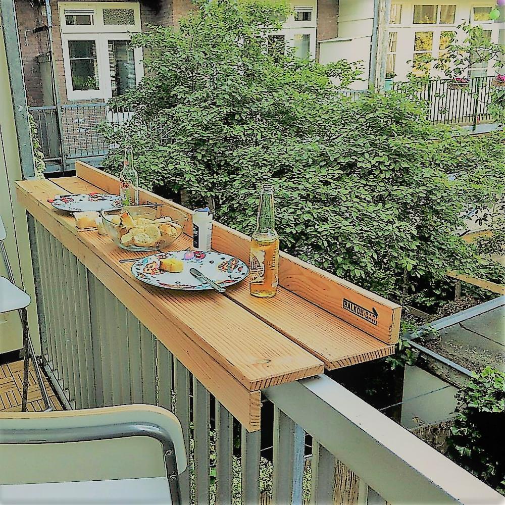 Fehlt Der Platz Für Einen Tisch Auf Dem Balkon So Kann Es