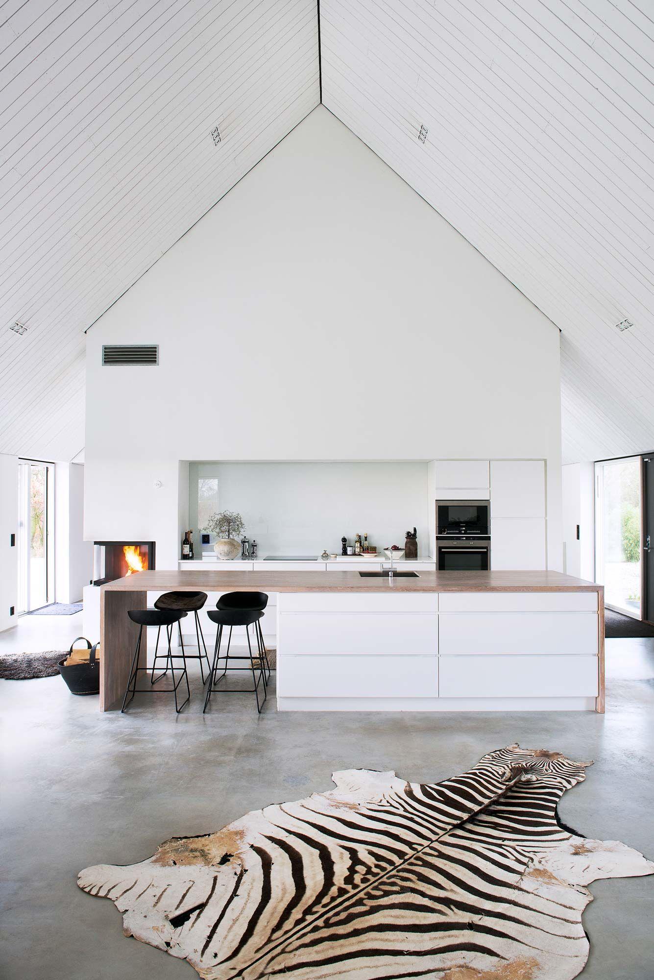 Ilot Central Avec Refrigerateur ~ Modern Sk Neg Rd Prisbel Nt F R God Arkitektur Det R L Tt Att