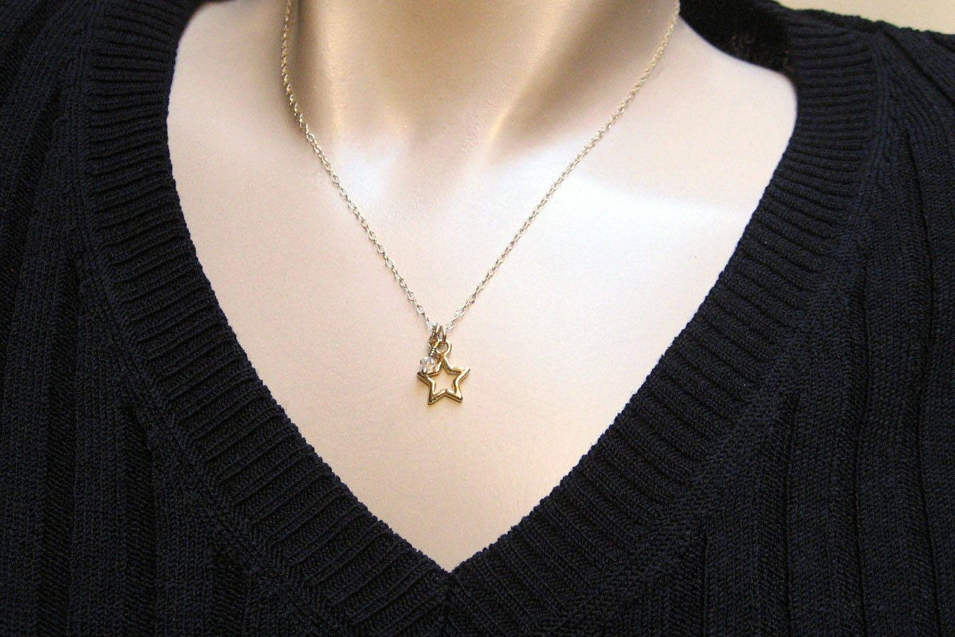 necklace mode star products tiny