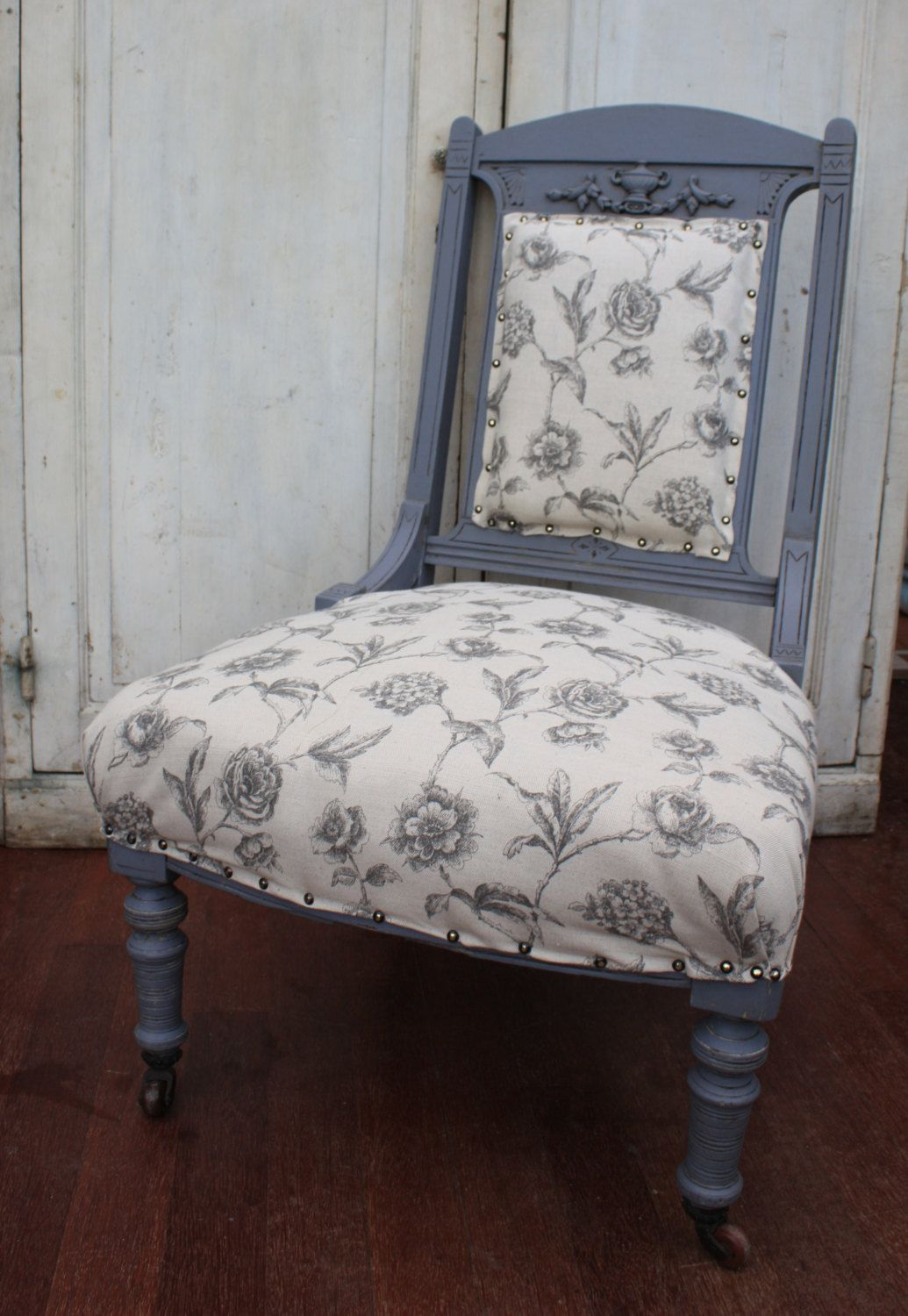 Antique Upholstered Nursing Chair, Hand painted, Distressed and Waxed by  Restored2bloved on Etsy ... - Antique Upholstered Nursing Chair, Hand Painted, Distressed And