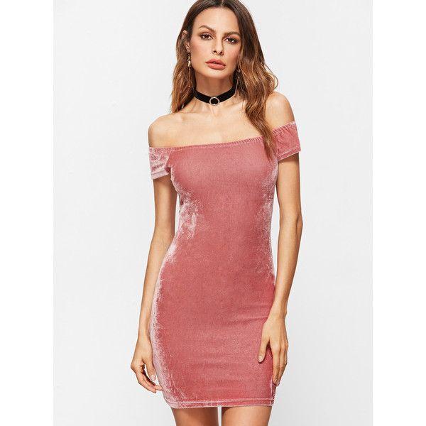 a6e1da772d3c Bardot Velvet Bodycon Dress ( 4.99) ❤ liked on Polyvore featuring dresses