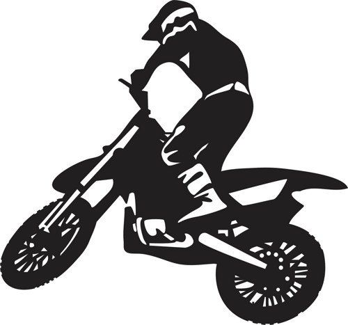 Dirtbike Rider Wall Decal Sticker Mx X Games By