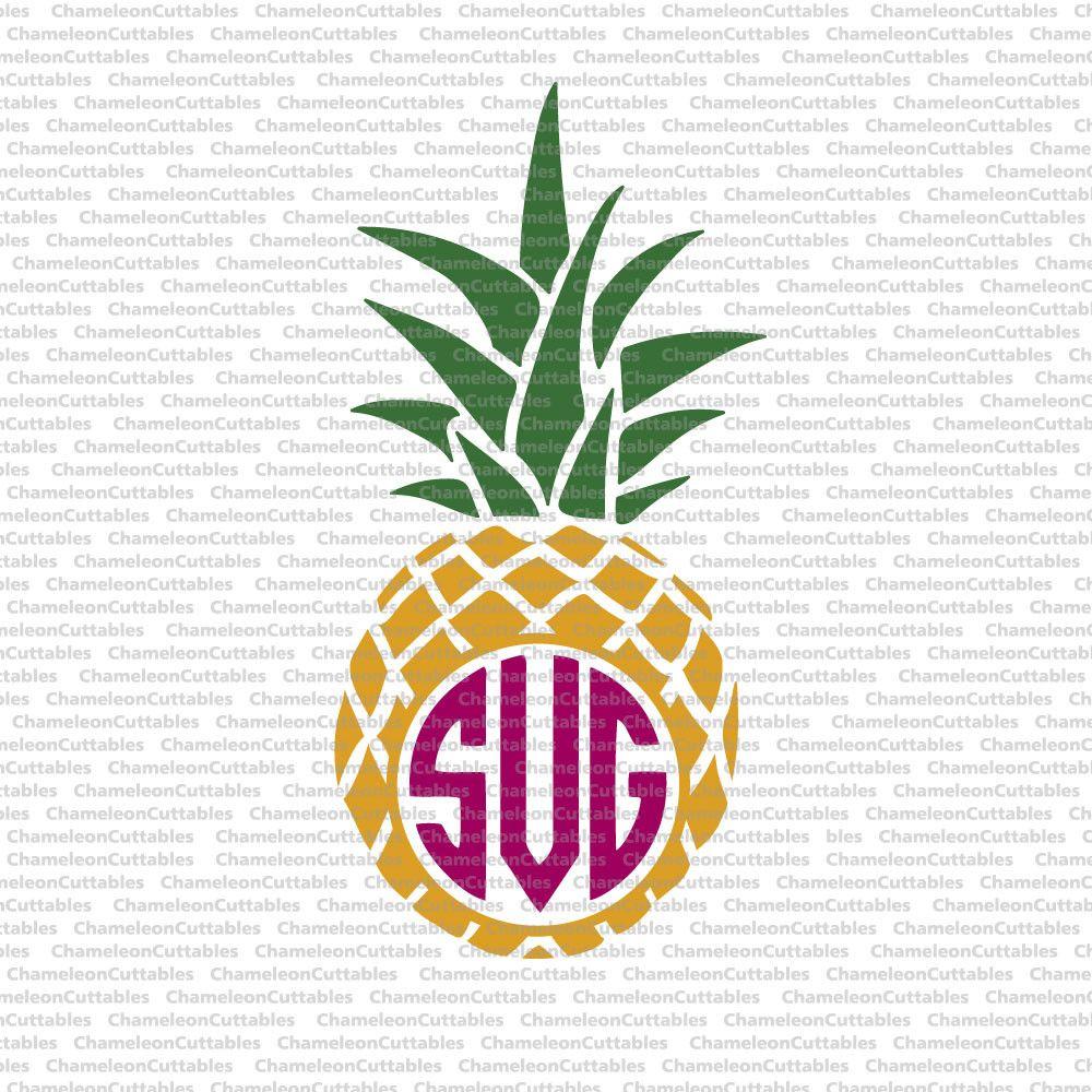 Download Pineapple for Monogram svg png dxf eps | Cricut monogram ...