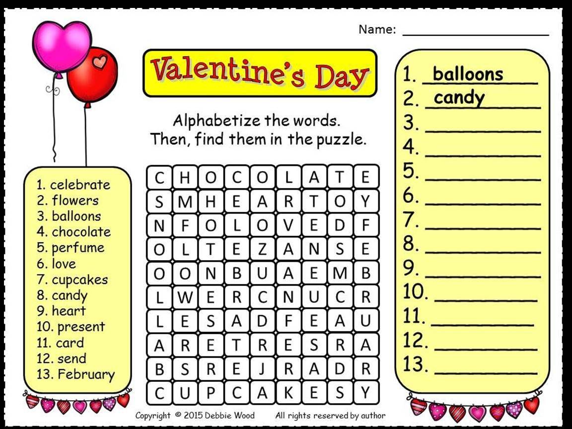 Valentines Day Reading | Word search, Worksheets and Common core ela