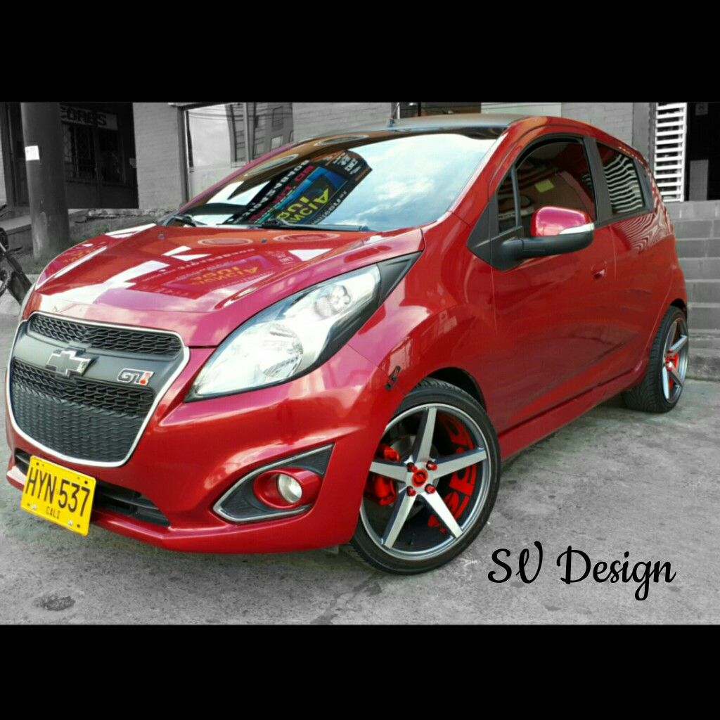 Spark Gt Tuning By Sv Design Chevrolet Spark Spark Gt Calcomania Para Auto