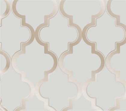 Dorm Essentials Marrakesh Bronze Gray Designer Removable Dorm Room  Wallpaper Dorm Room Decor Part 89