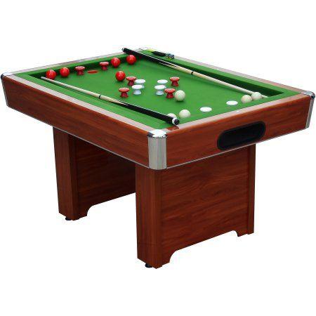Playcraft Hartford Slate Chery Bumper Pool Table Red Pool - Genuine slate playfield pool table