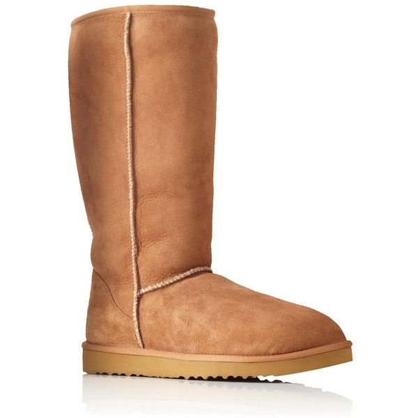 Tall Chestnut Ugg Australia Brown ($290) ❤ liked on Polyvore featuring shoes, boots