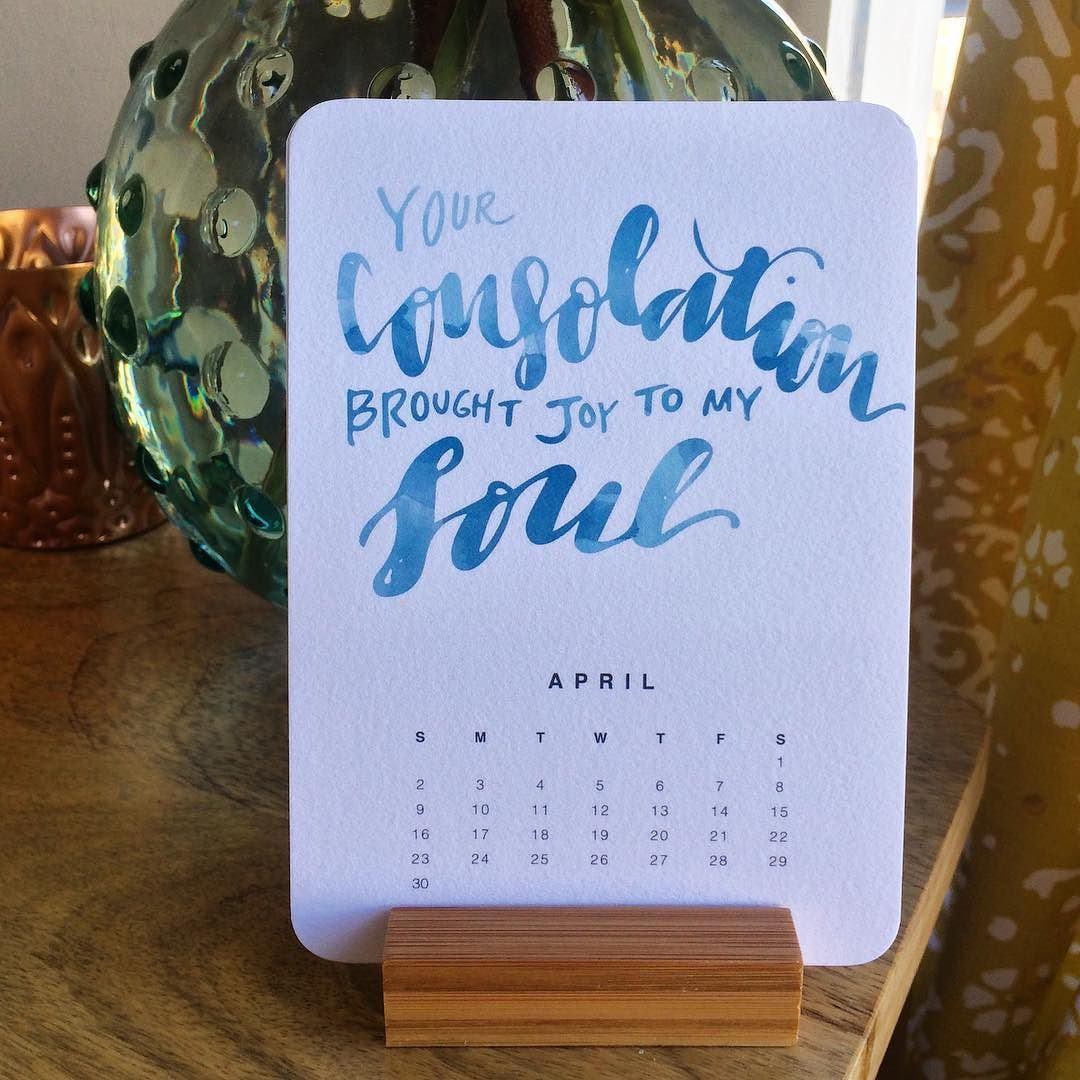 to post April! Month four of a calendar of