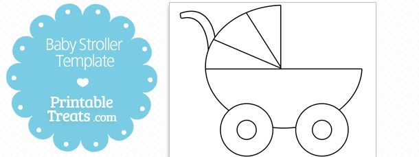 Printable Baby Stroller Template Baby Strollers Free Baby Stuff Baby Cards