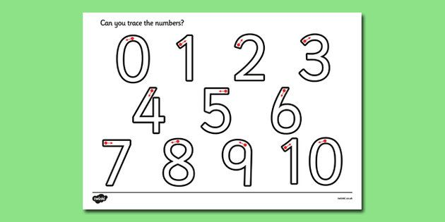 Number Formation Worksheet - A handy little worksheet featuring ...