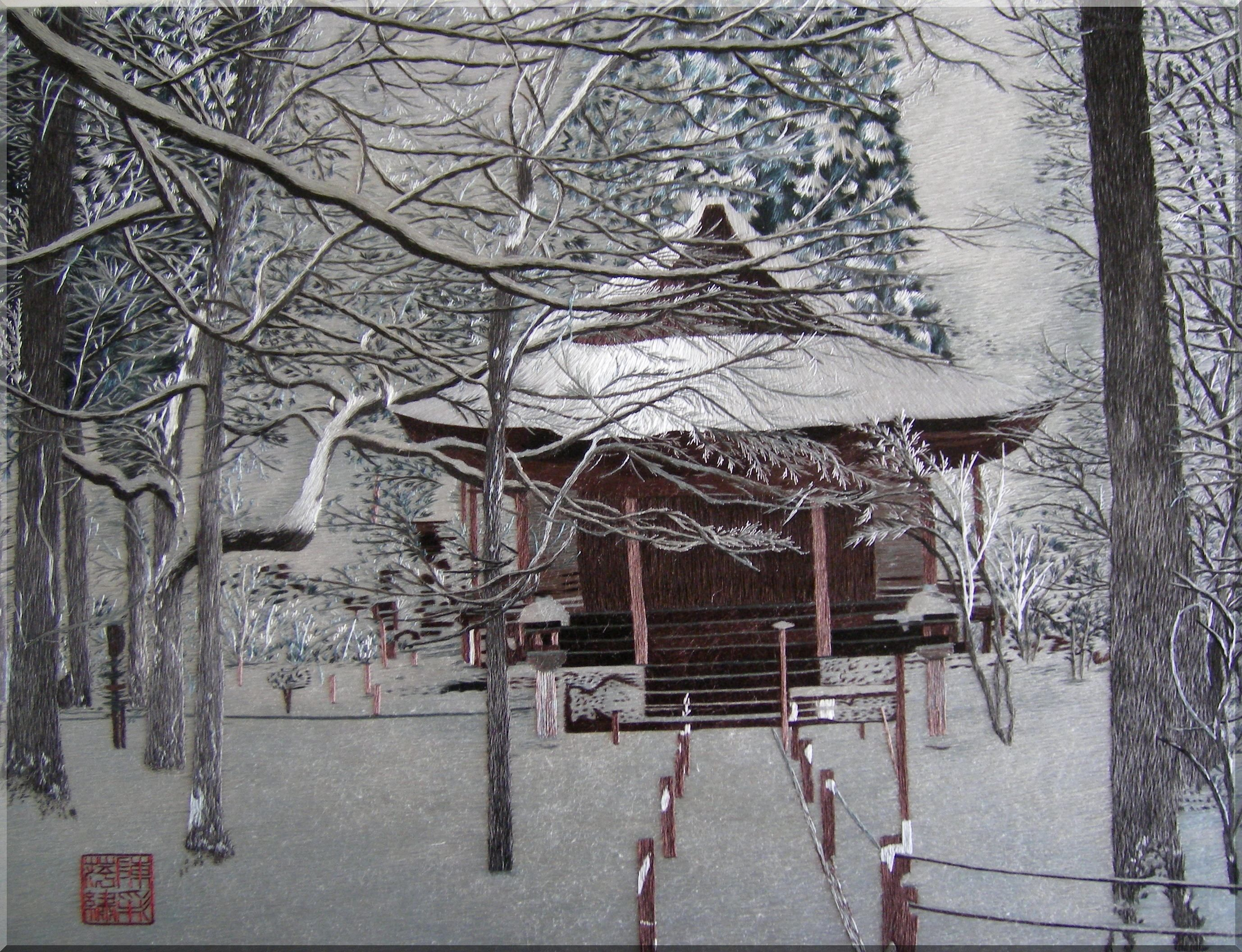 chen chaipin the detail is amazing winter view fine art japanese