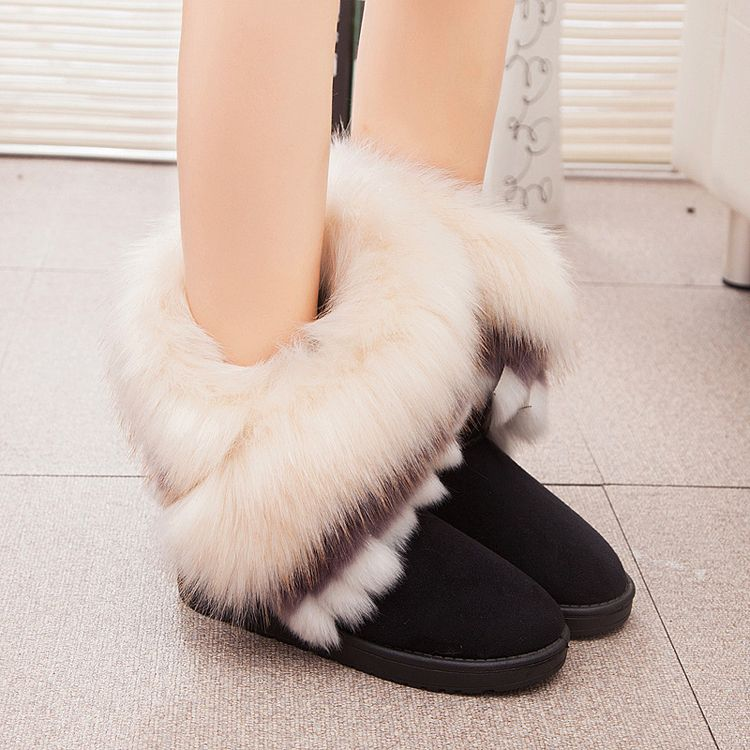 72373872570782 Aliexpress.com   Buy Fashion Women Snow Boots 2015 Winter New Solid Leather  Chaussure Femme