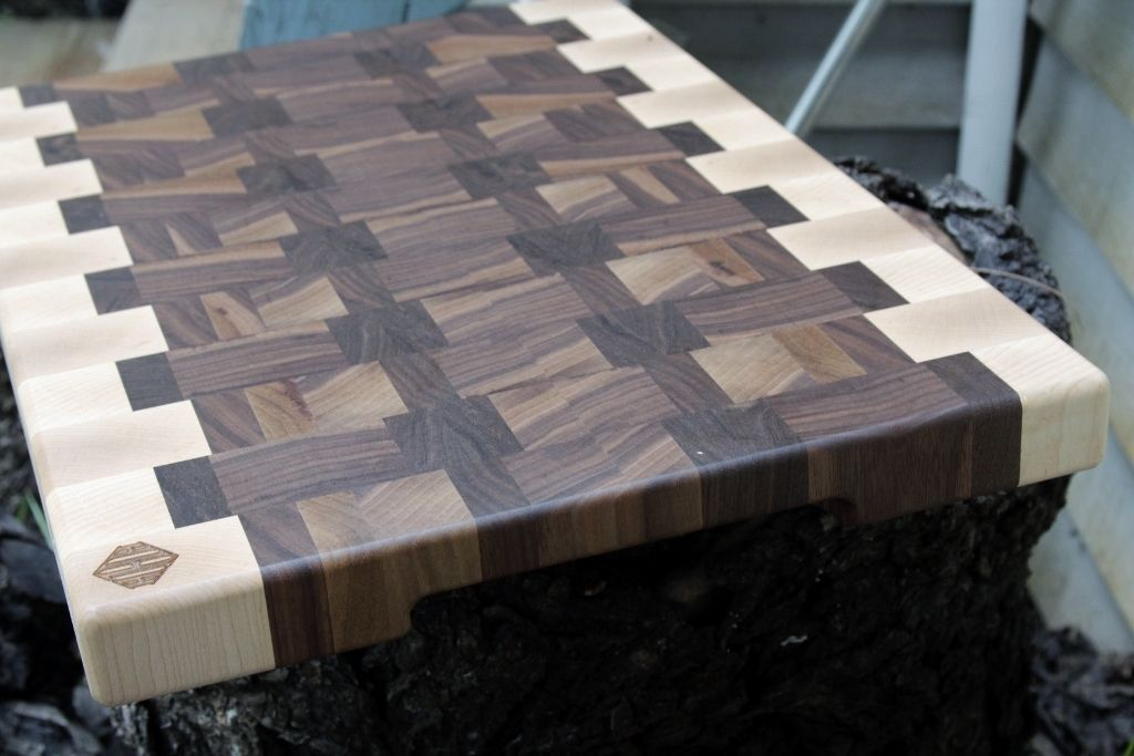 Walnut And Maple End Grain Cutting Board Woodworking