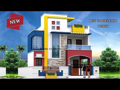 beautiful modern house front elevation design double floor part youtube also rh pinterest