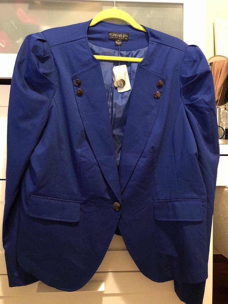 83bdbca1ae926 Womens Plus Size Forever 21 Royal Blue Blazer  fashion  clothing  shoes   accessories  womensclothing  coatsjacketsvests (ebay link)