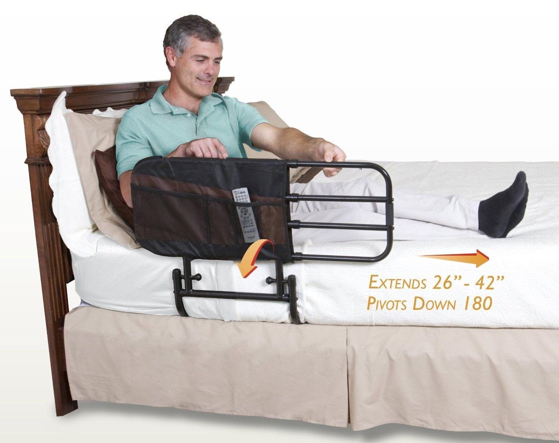 Details about Adjustable Bed Rail Elderly Safety Guard