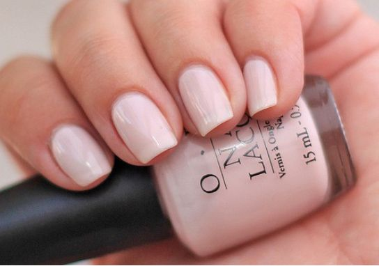 classic, universally flattering nail color.  Bubble Bath, by OPI #nails #pedicures
