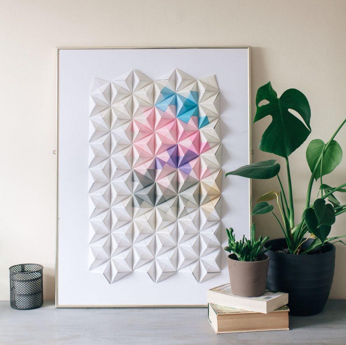 Sonobe unit origami wall art by coco sato cocosato