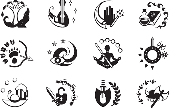 Dd Class Icon System On Behance Rpg Pinterest Icons Behance