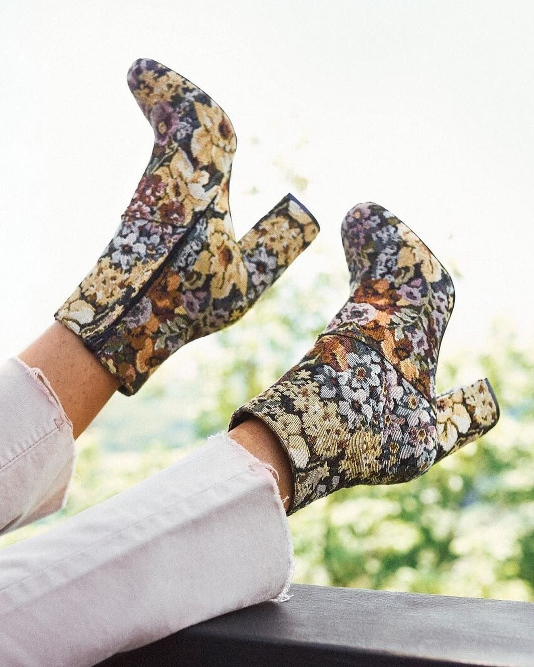 e35cb54afc5 These boots were made for...everything! Shop the Emma Floral Jacquard Ankle  Boot