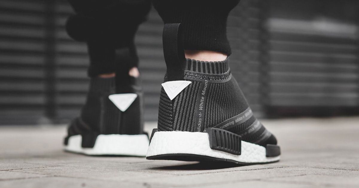 best loved 9c084 90bdf The Adidas NMD City Sock White Mountaineering, a collectors item. Watch out  for fakes being sold online, get a 26 point step-by-step guide from the  goVerify ...