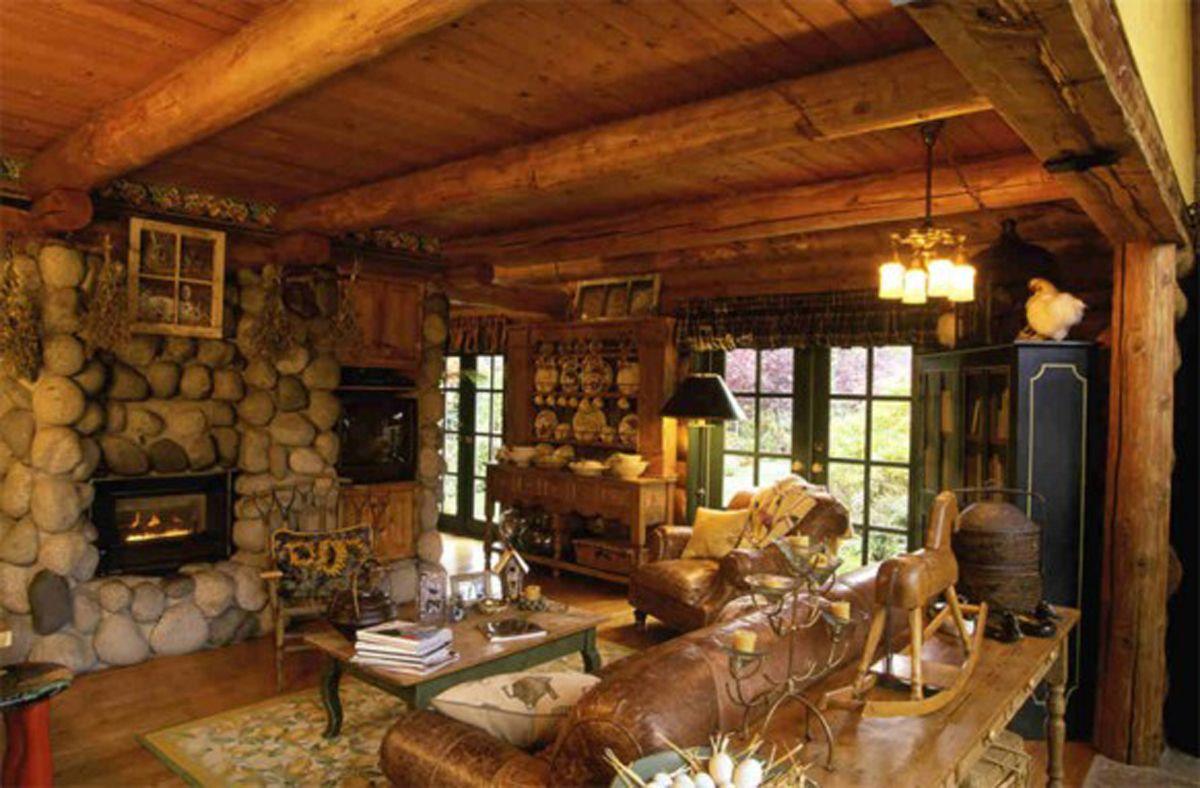 Interior design mountain house interior decorating ideas log homes ...