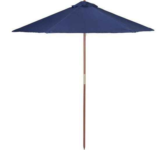 Buy HOME Garden Parasol 2m - Blue at Argos.co.uk, visit Argos.co.uk ...