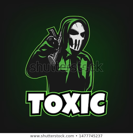 Green Toxic logo mascot, esport logo, game logo Esportes