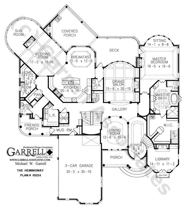 Hemingway 05224, 1st Floor Plan, Mountain House Plans