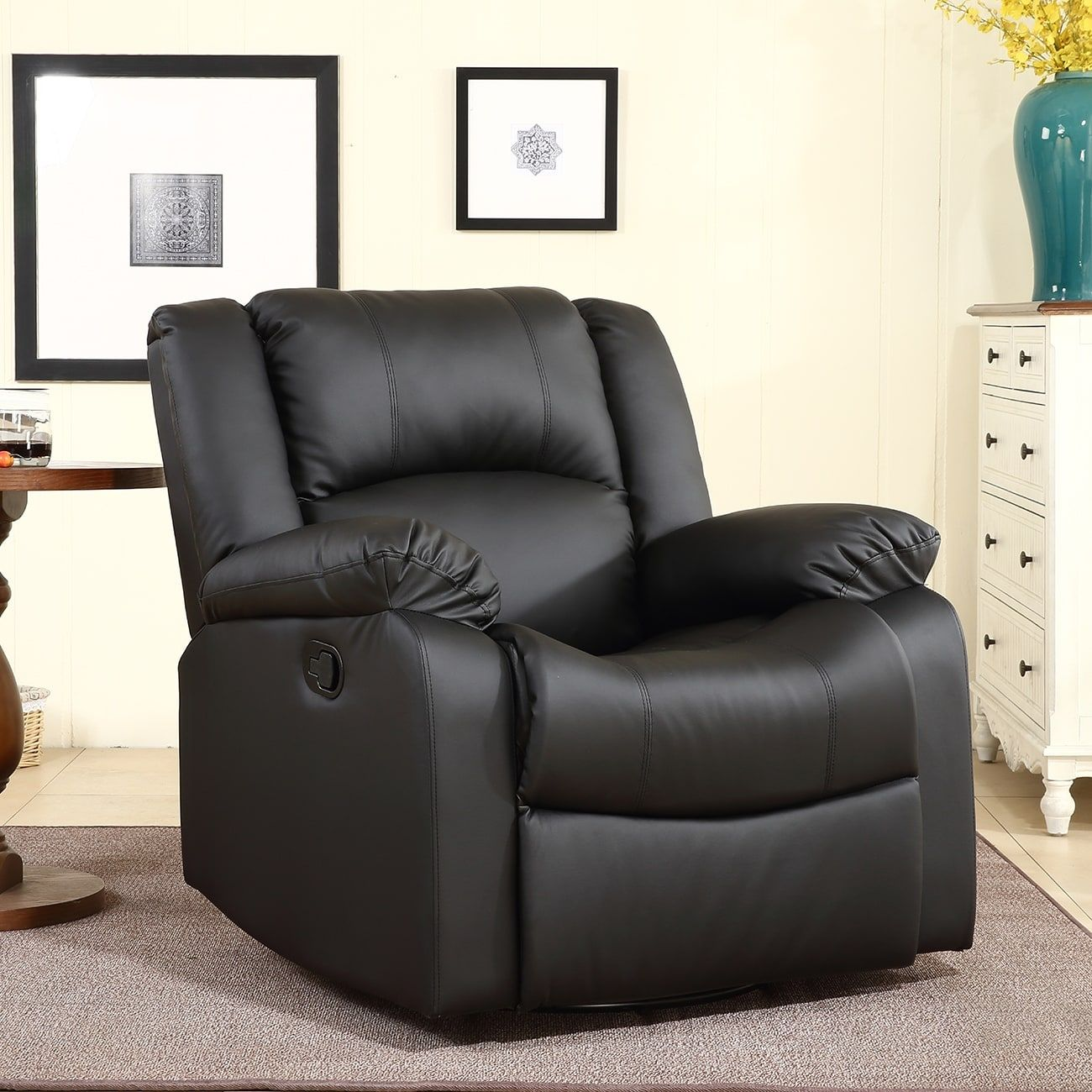 furniture chair modern rocker swivel reclining white with leather recliner