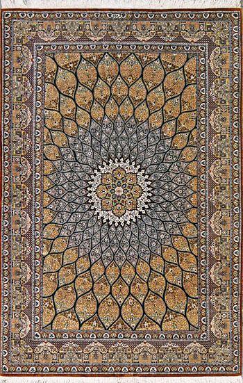 Qum Persian Rug Handmade 4 5 X 6 9 Authentic