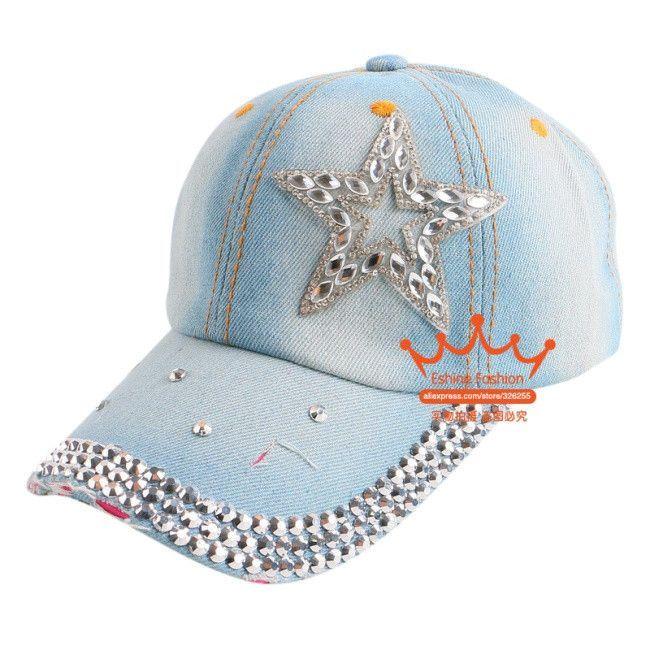 7a636d2aef0f5 new fashion rhinestone floral denim women baseball caps wholesale woman hip  hop snapback hats girl brand casual cap gorras