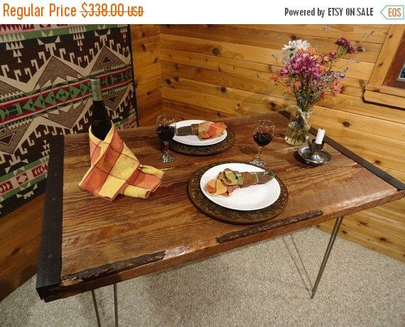 Limited Time Sale 10% OFF 24x42 Industrial Dining Table with Hairpin Legs