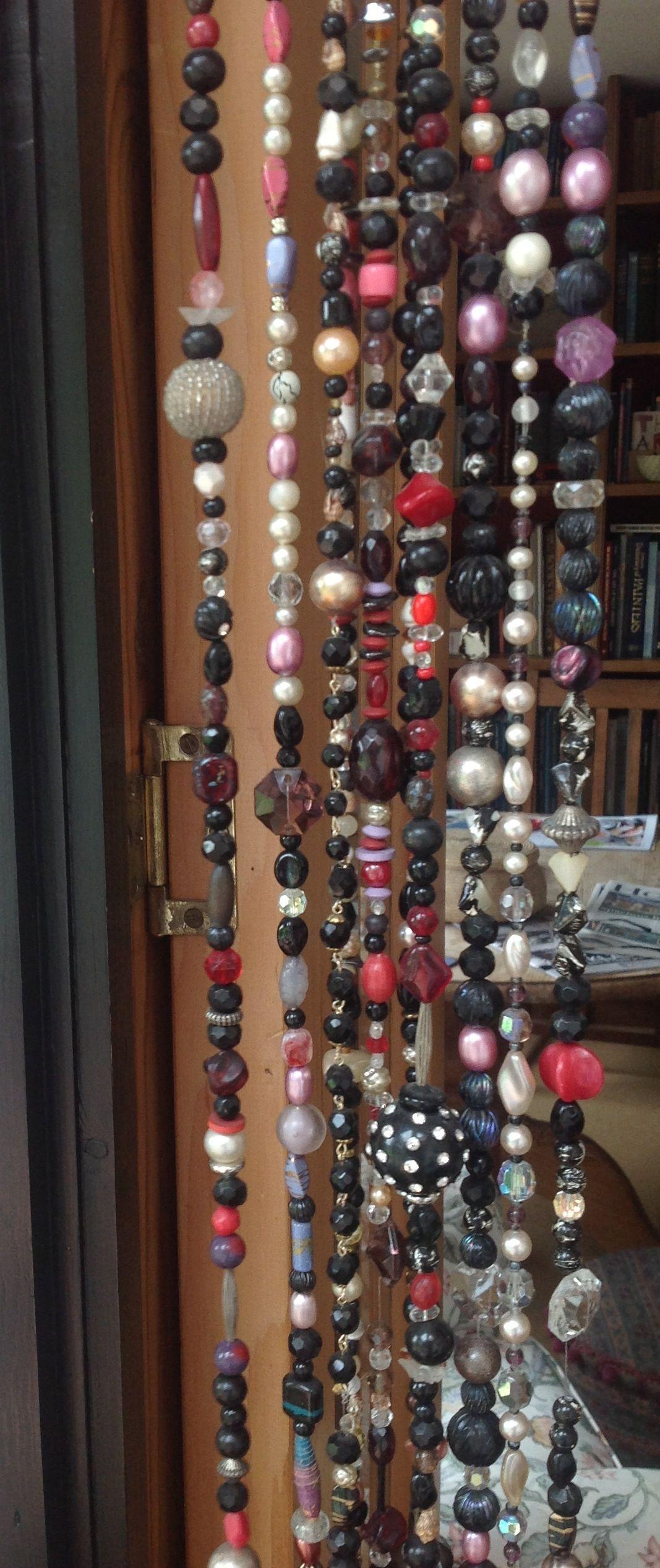 Ha hanging bead curtains for doorways - Bead Door Curtain Own Fishing Line