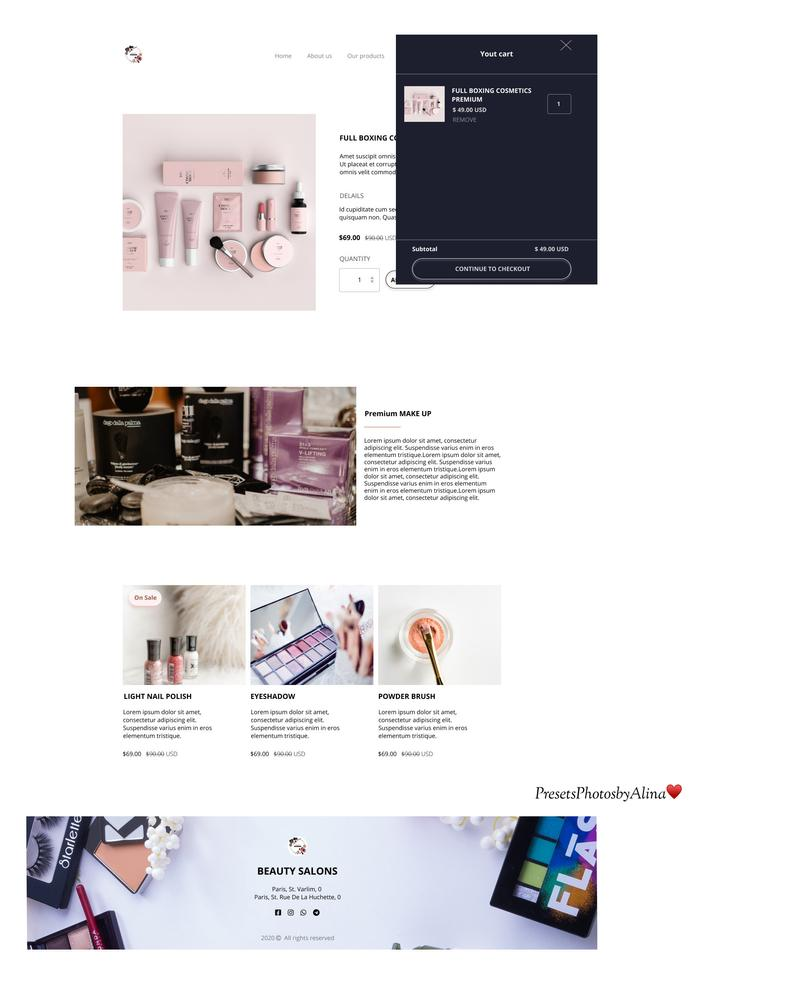Makeup Design Website Figma Cosmetics Store Store Website Etsy In 2020 Website Design Cosmetic Store Website Design Inspiration Business