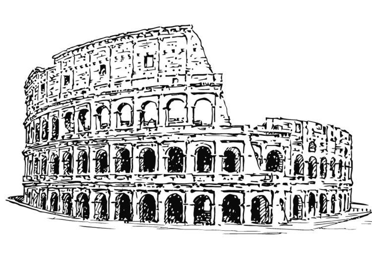 Disegno da colorare colosseo italia progetto nel 2019 for Colosseo da colorare